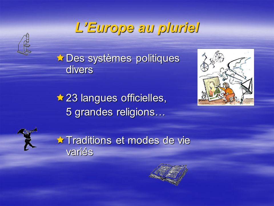 L'Europe au pluriel Des systèmes politiques divers
