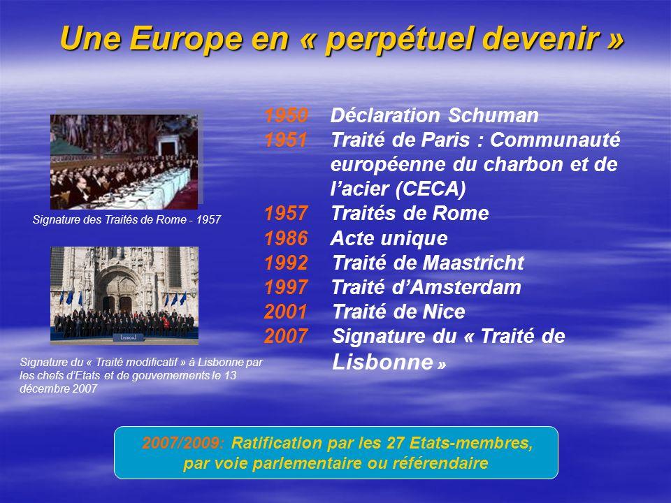 Une Europe en « perpétuel devenir »