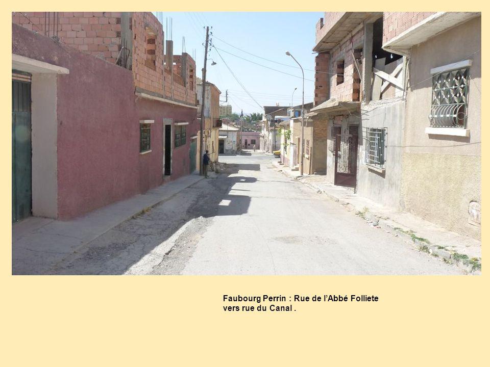 Faubourg Perrin : Rue de l'Abbé Folliete vers rue du Canal .