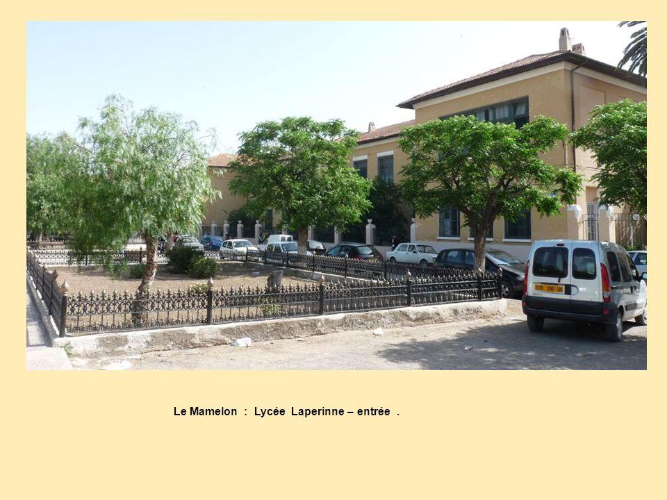 Le Mamelon : Lycée Laperinne – entrée .