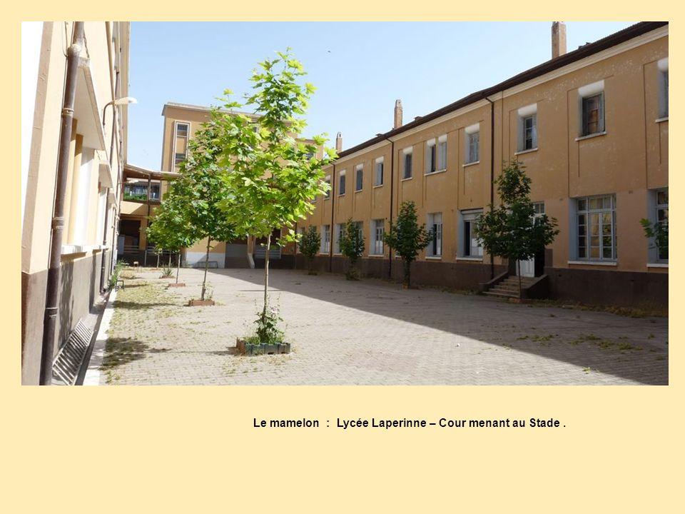 Le mamelon : Lycée Laperinne – Cour menant au Stade .