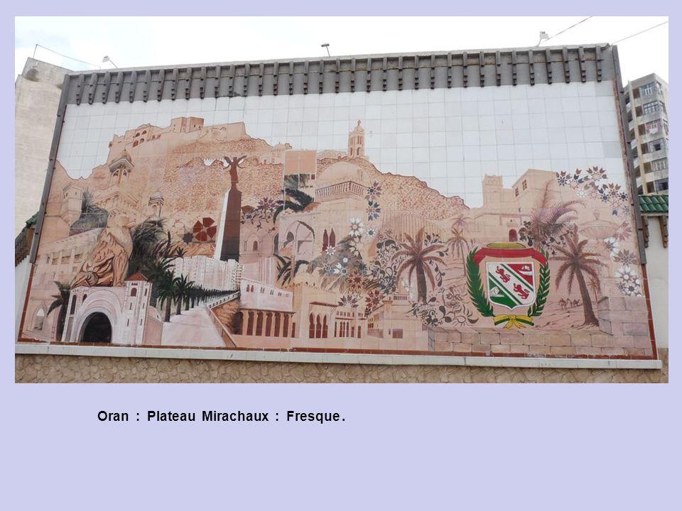 Oran : Plateau Mirachaux : Fresque .