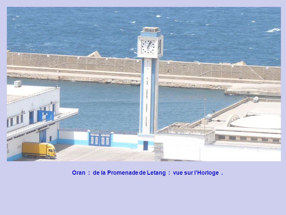 Oran : de la Promenade de Letang : vue sur l'Horloge .