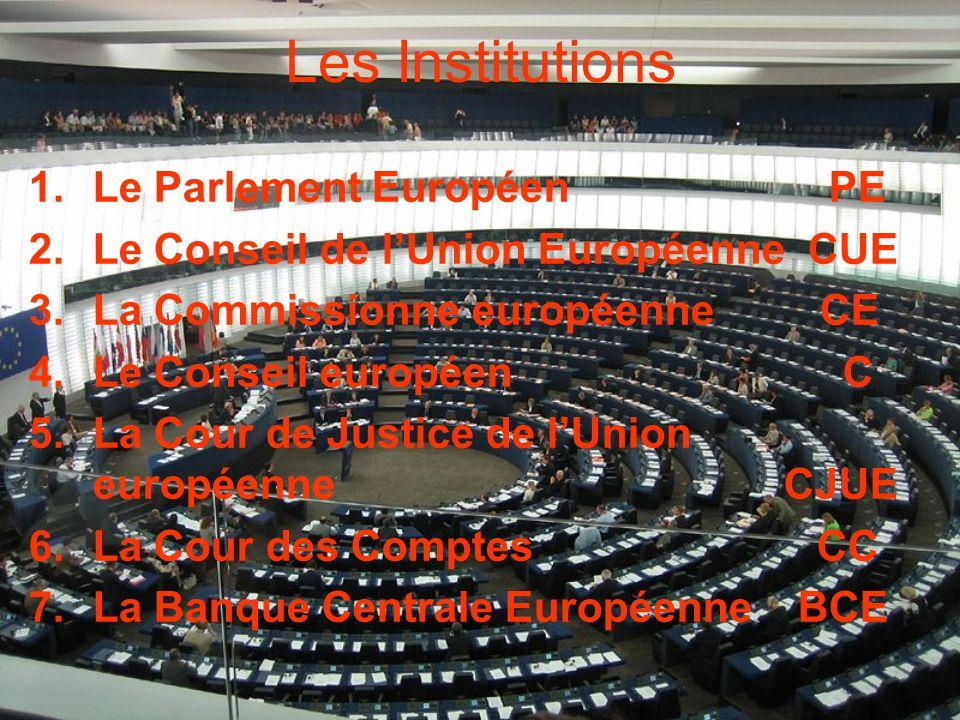 Les Institutions Le Parlement Européen PE