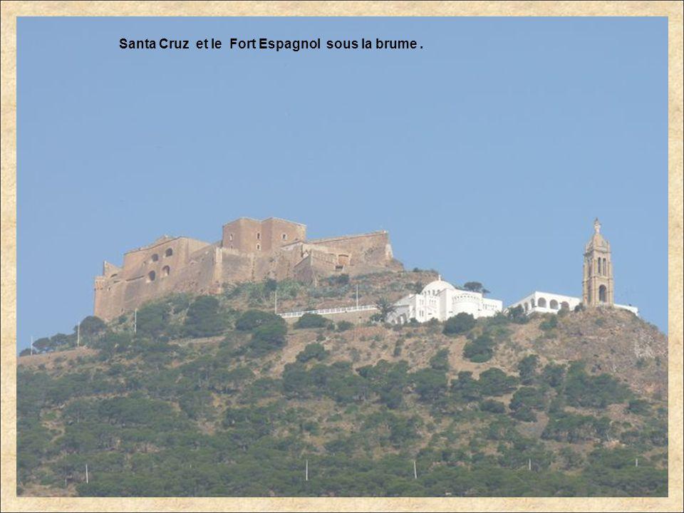 Santa Cruz et le Fort Espagnol sous la brume .