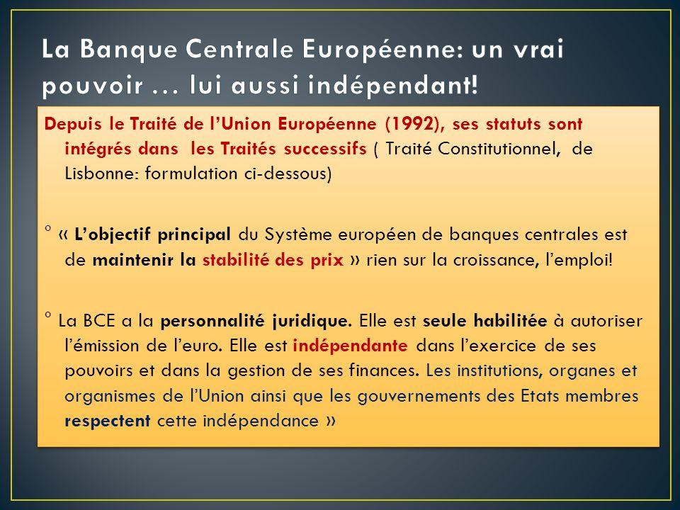 La Banque Centrale Européenne: un vrai pouvoir … lui aussi indépendant!