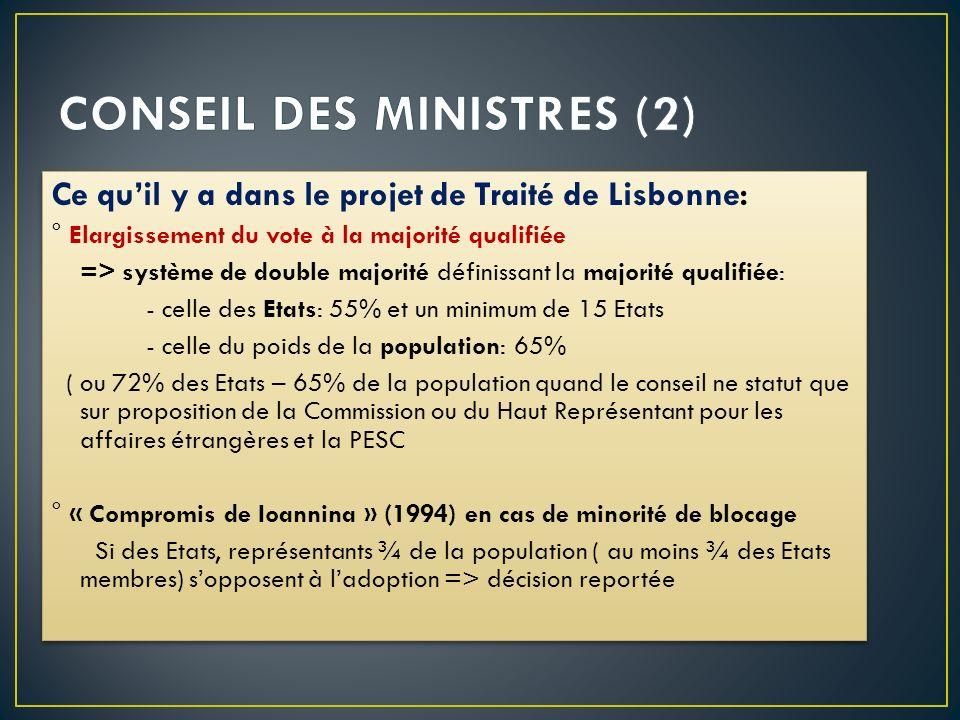 CONSEIL DES MINISTRES (2)