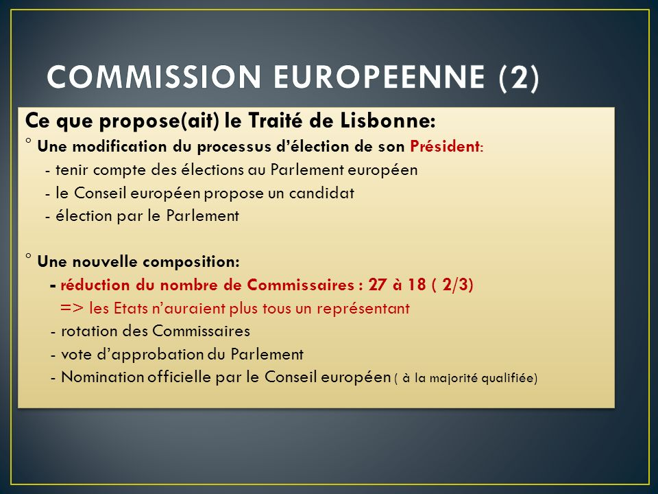 COMMISSION EUROPEENNE (2)