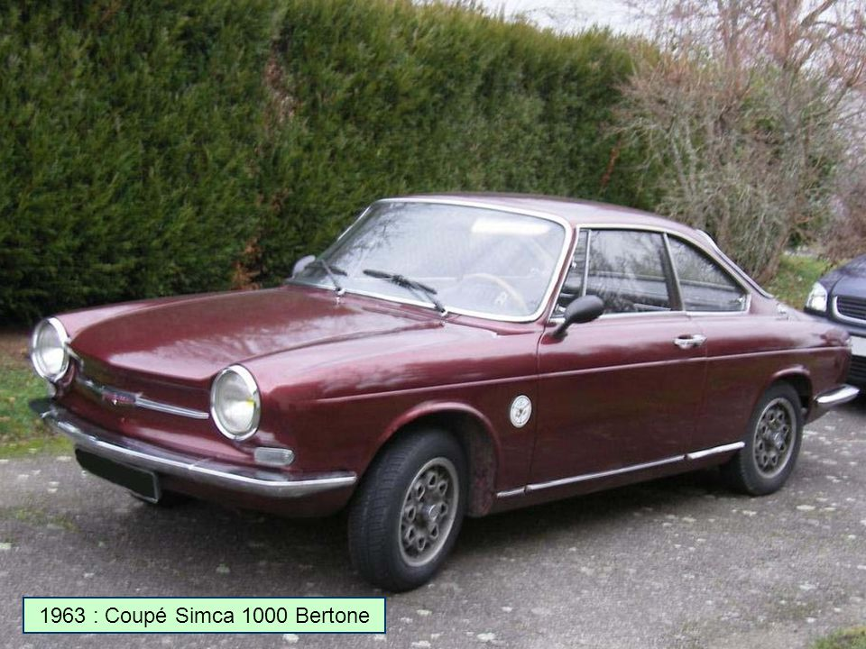 1963 : Coupé Simca 1000 Bertone