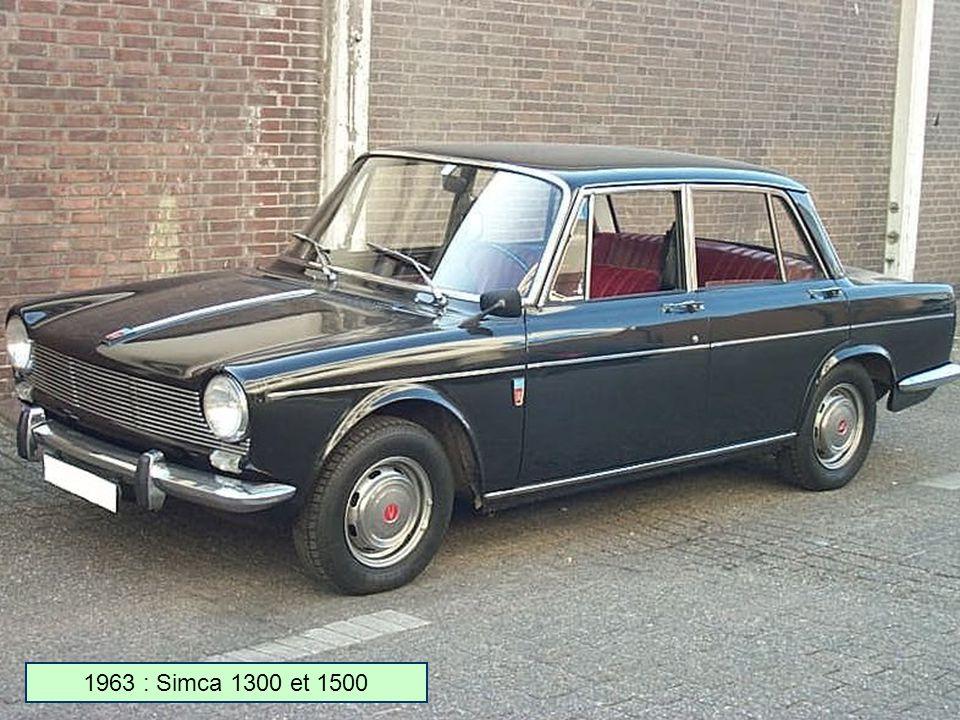 1963 : Simca 1300 et 1500