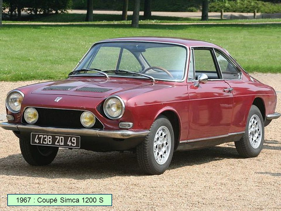 1967 : Coupé Simca 1200 S