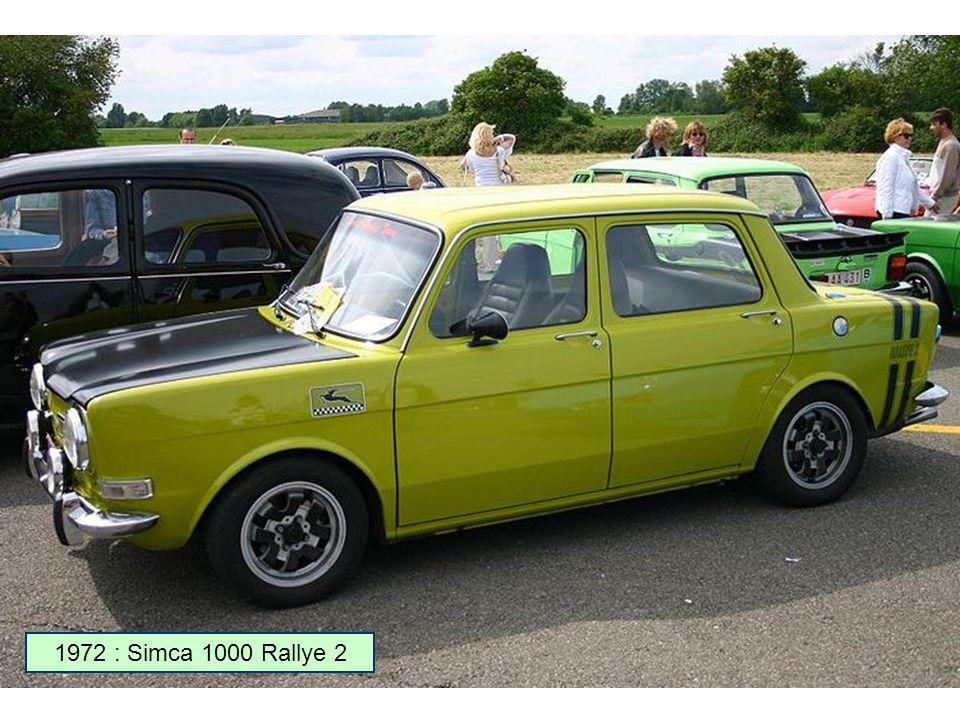 1972 : Simca 1000 Rallye 2