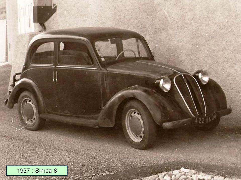 en 1934 simca rach te l usine donnet nanterre et produit des voitures sous licence fiat. Black Bedroom Furniture Sets. Home Design Ideas