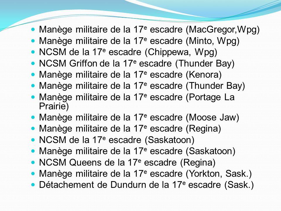 Manège militaire de la 17e escadre (MacGregor,Wpg)