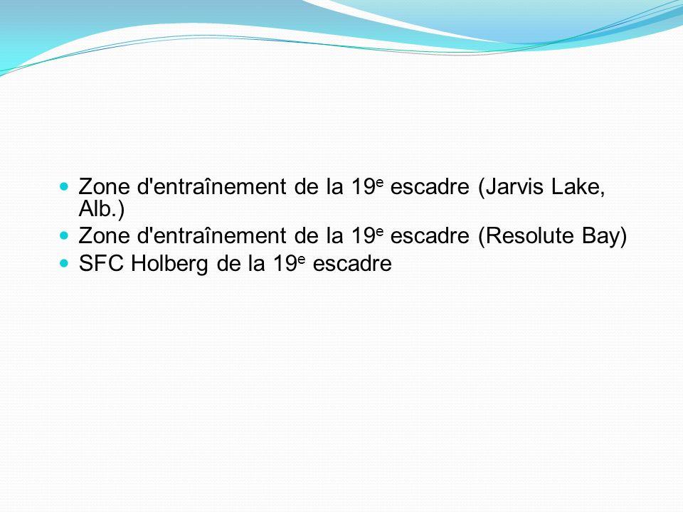 Zone d entraînement de la 19e escadre (Jarvis Lake, Alb.)