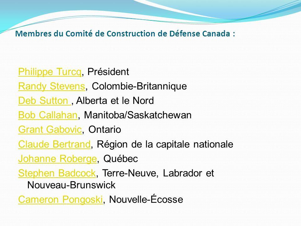 Membres du Comité de Construction de Défense Canada :