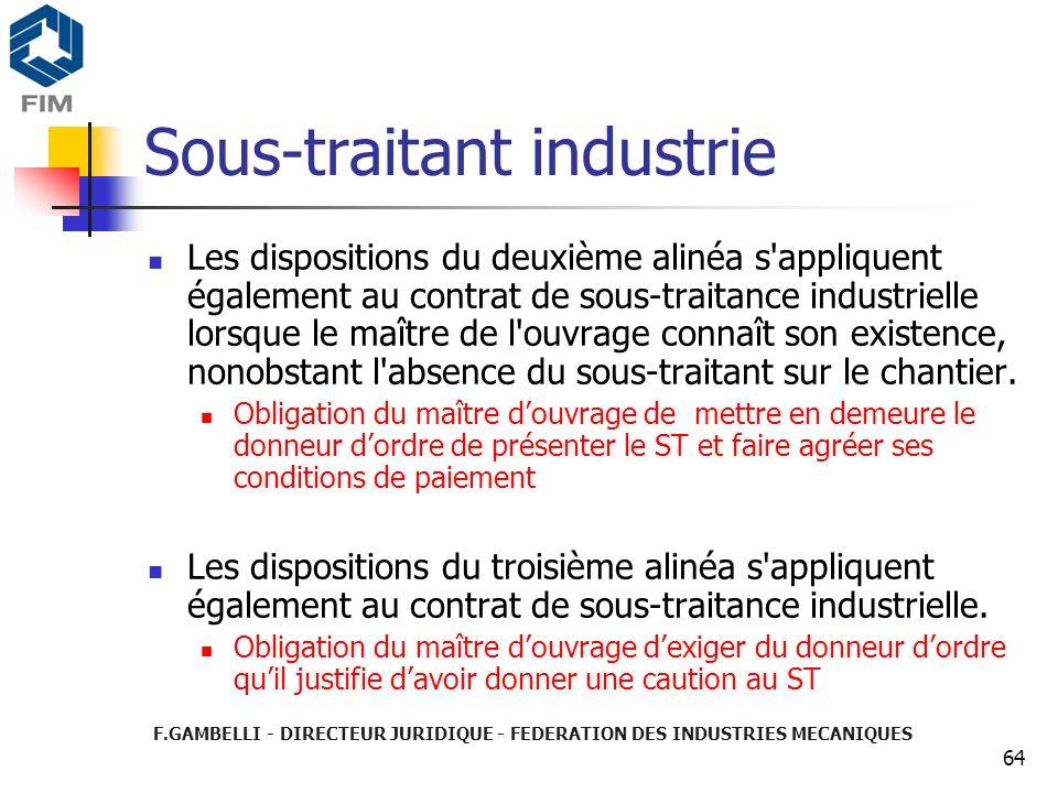 Sous-traitant industrie