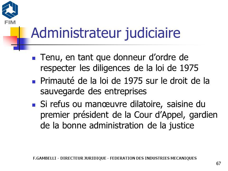Administrateur judiciaire