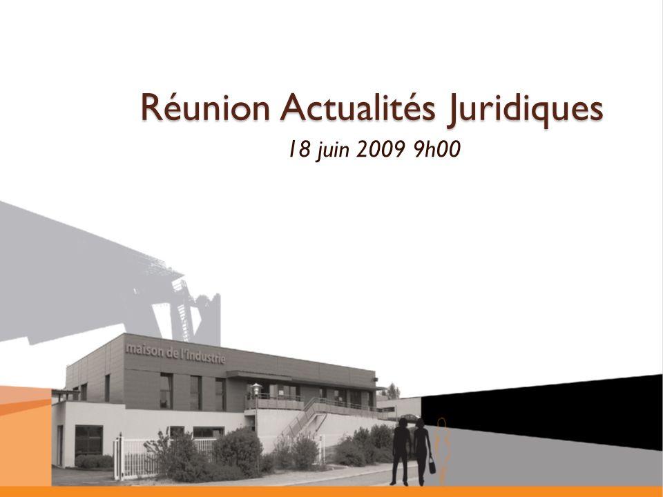 Réunion Actualités Juridiques
