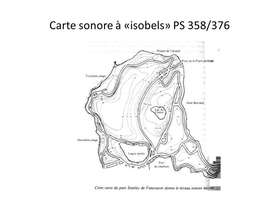 Carte sonore à «isobels» PS 358/376