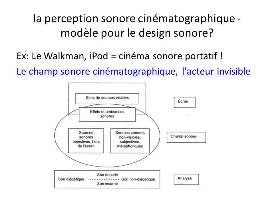 la perception sonore cinématographique - modèle pour le design sonore