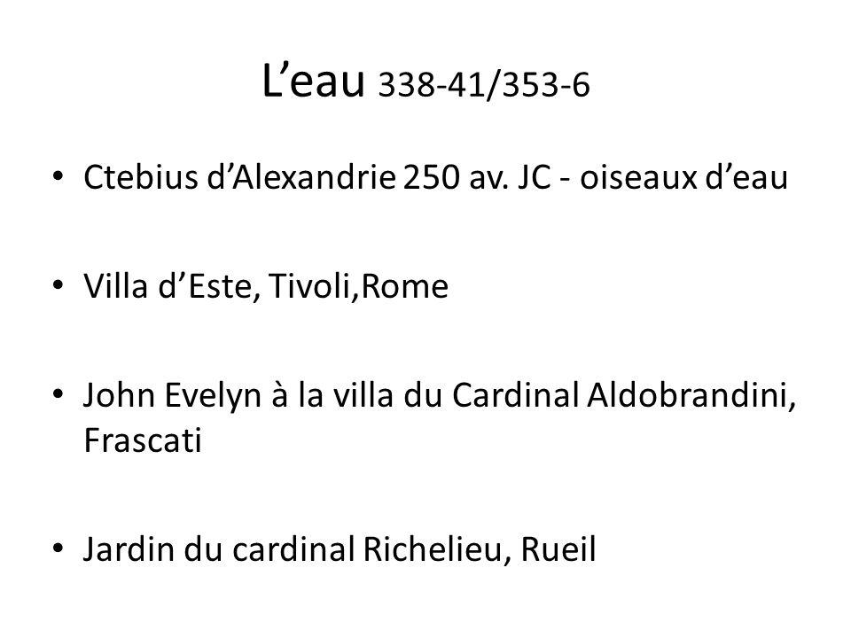 L'eau 338-41/353-6 Ctebius d'Alexandrie 250 av. JC - oiseaux d'eau