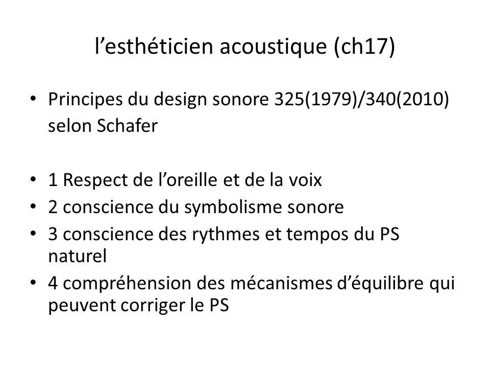l'esthéticien acoustique (ch17)