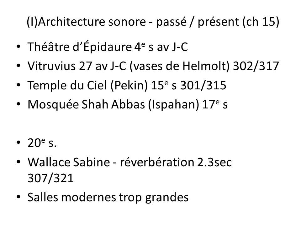 (I)Architecture sonore - passé / présent (ch 15)