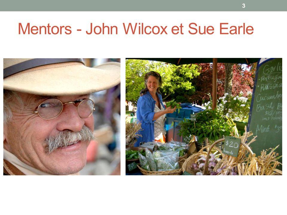 Mentors - John Wilcox et Sue Earle