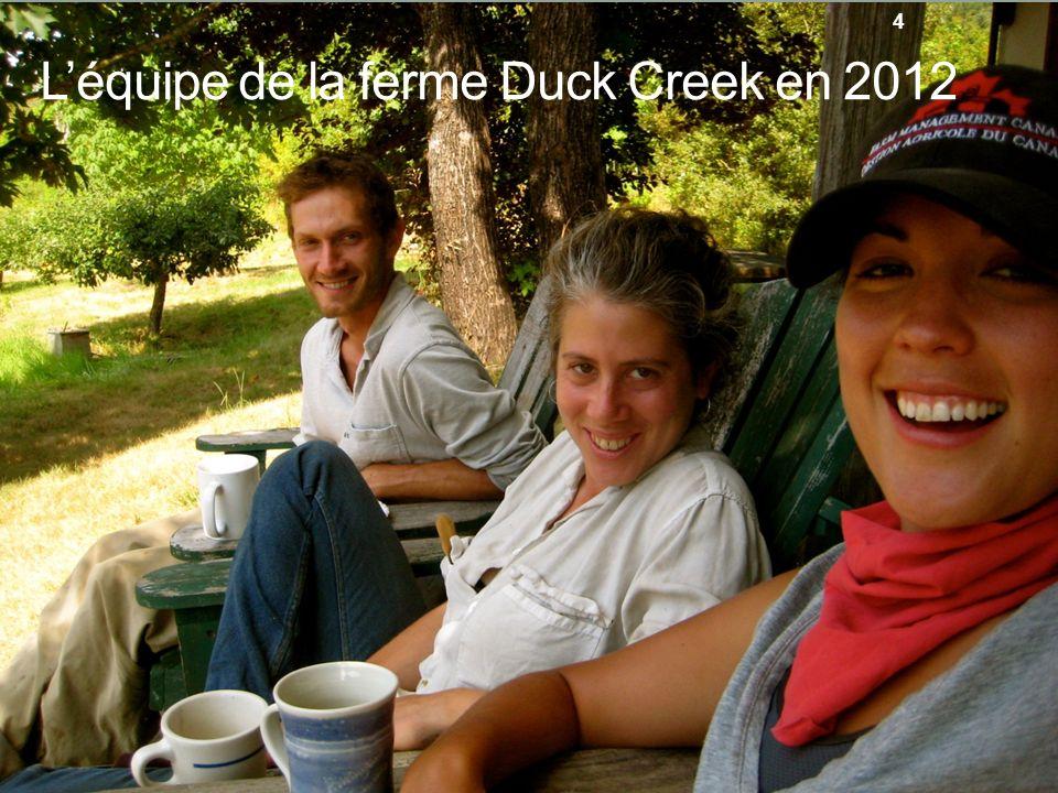 L'équipe de la ferme Duck Creek en 2012