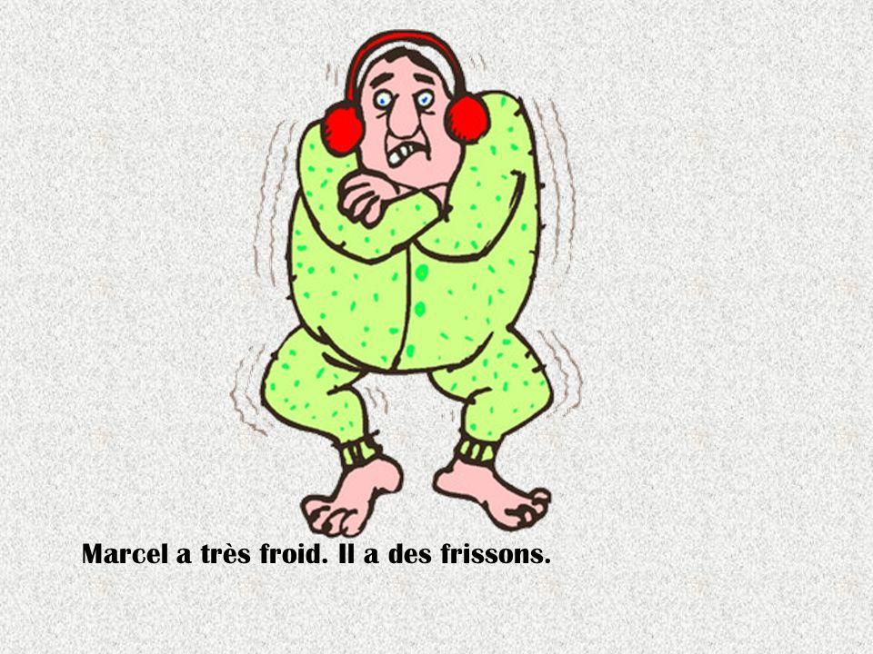 Marcel a très froid. Il a des frissons.