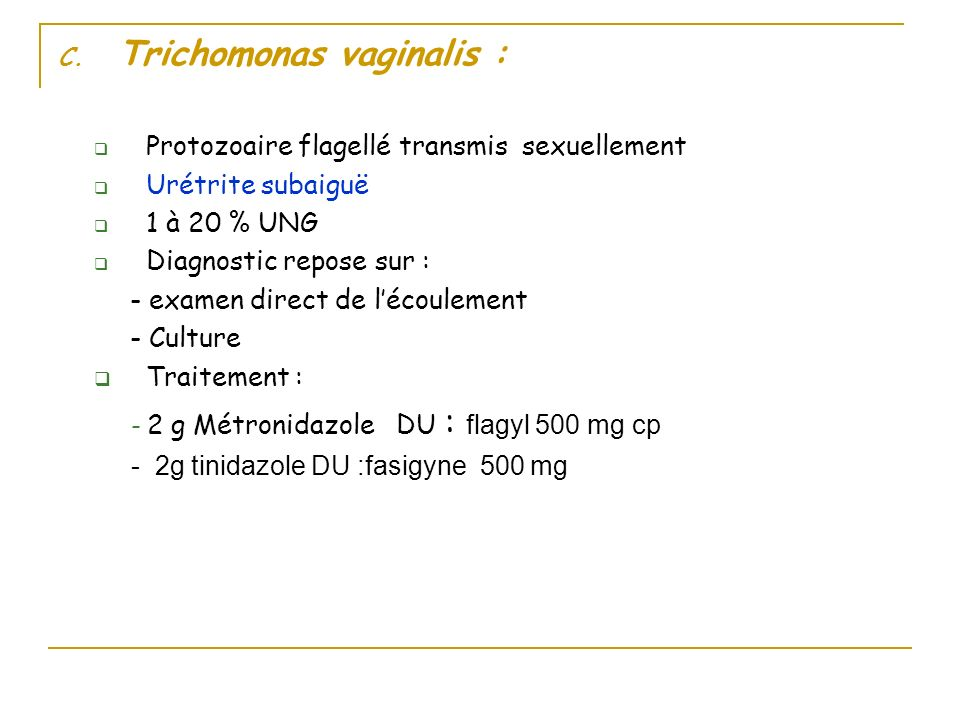 Trichomonas vaginalis :