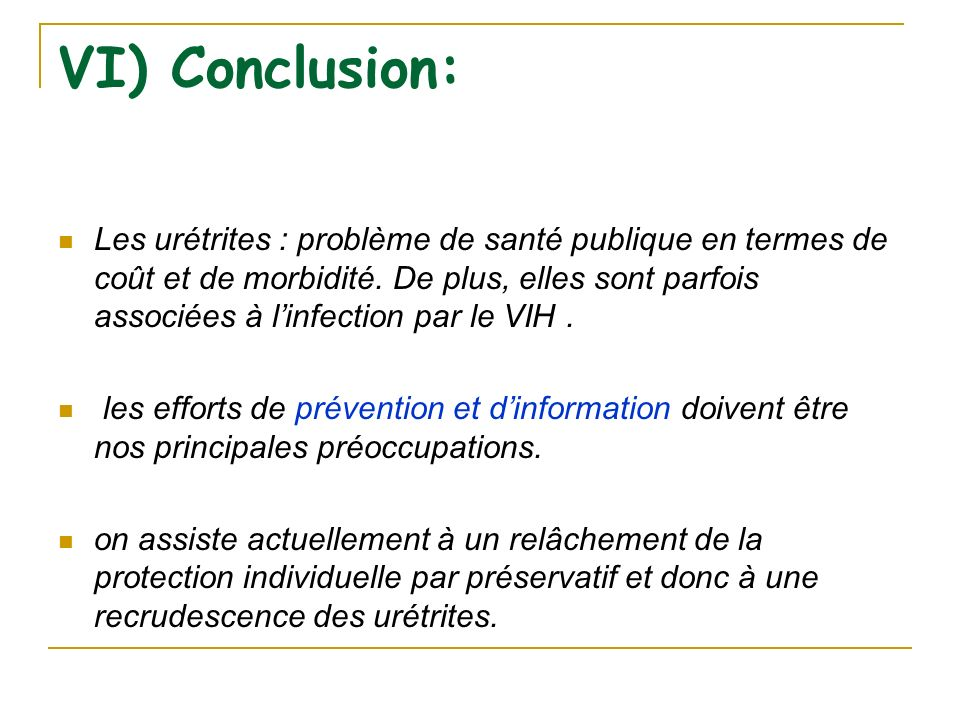 VI) Conclusion: