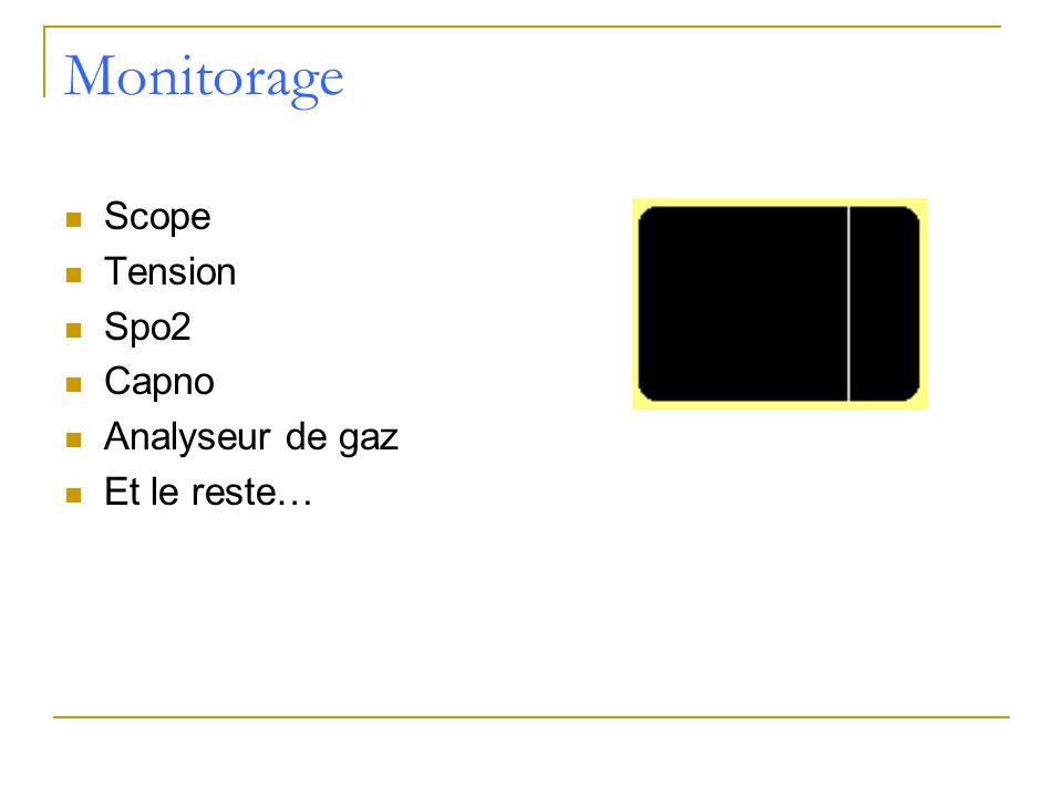 Monitorage Scope Tension Spo2 Capno Analyseur de gaz Et le reste…