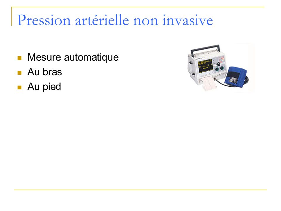 Pression artérielle non invasive