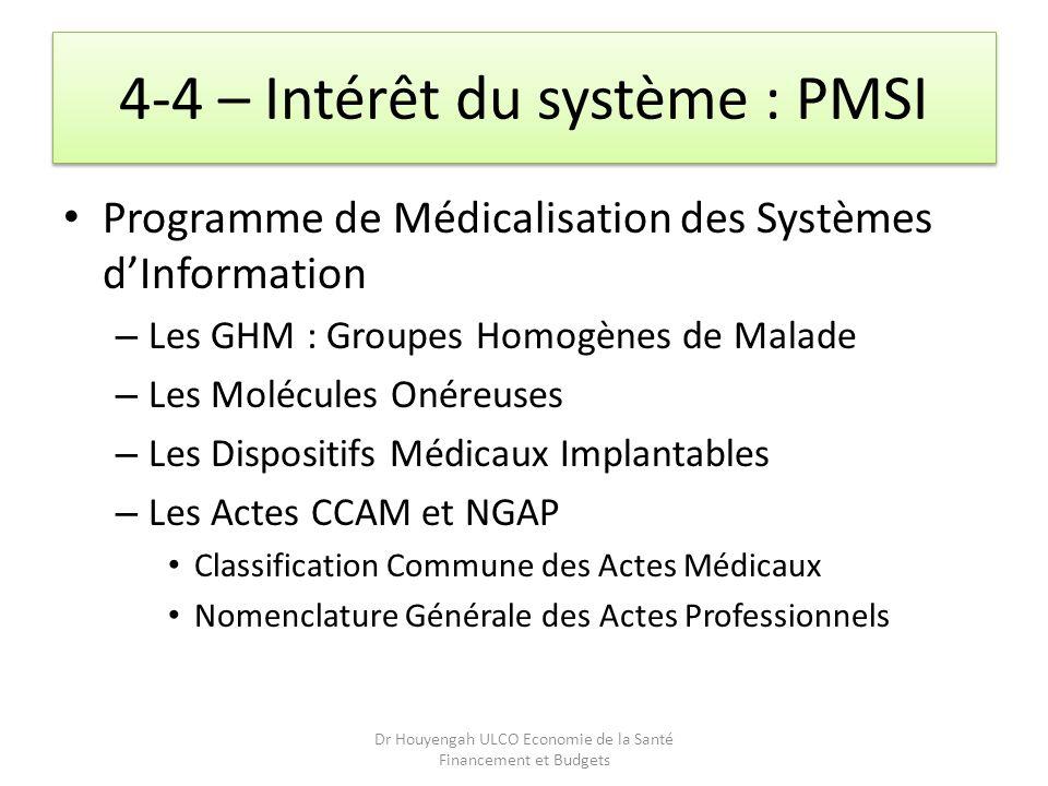 4-4 – Intérêt du système : PMSI