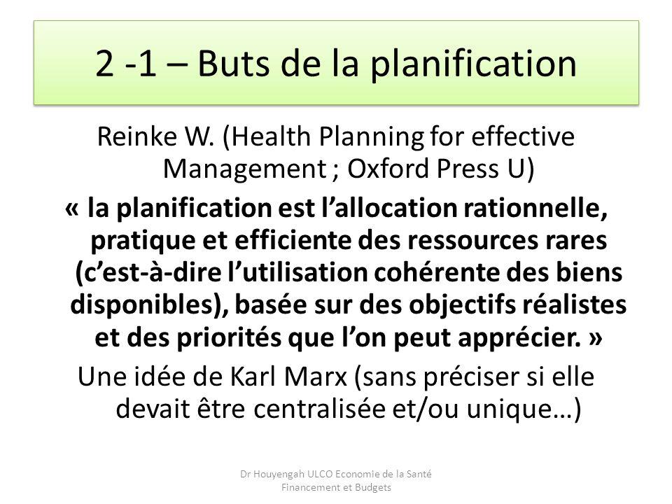 2 -1 – Buts de la planification