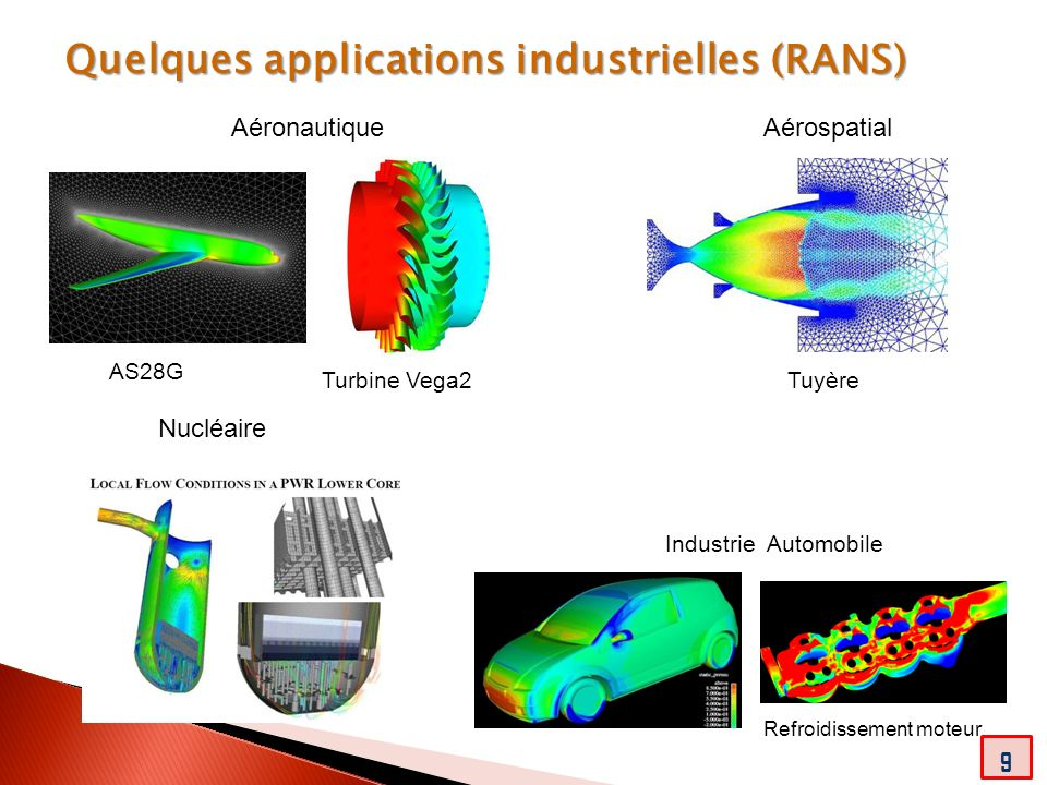 Quelques applications industrielles (RANS)