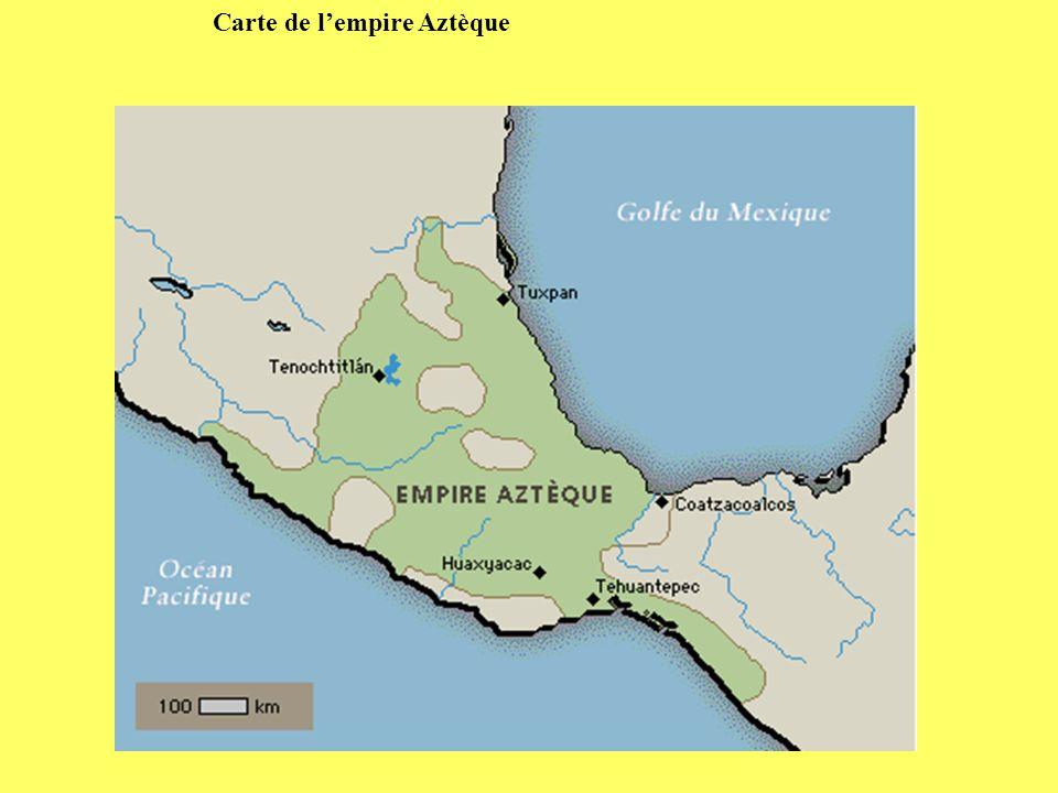 Carte de l'empire Aztèque