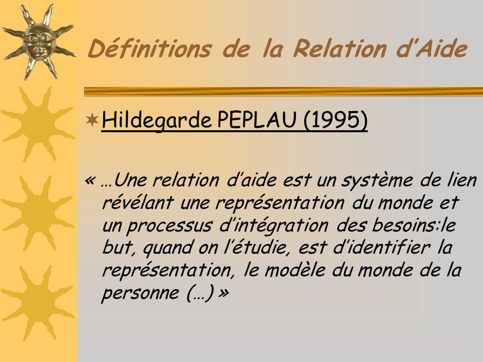 Définitions de la Relation d'Aide