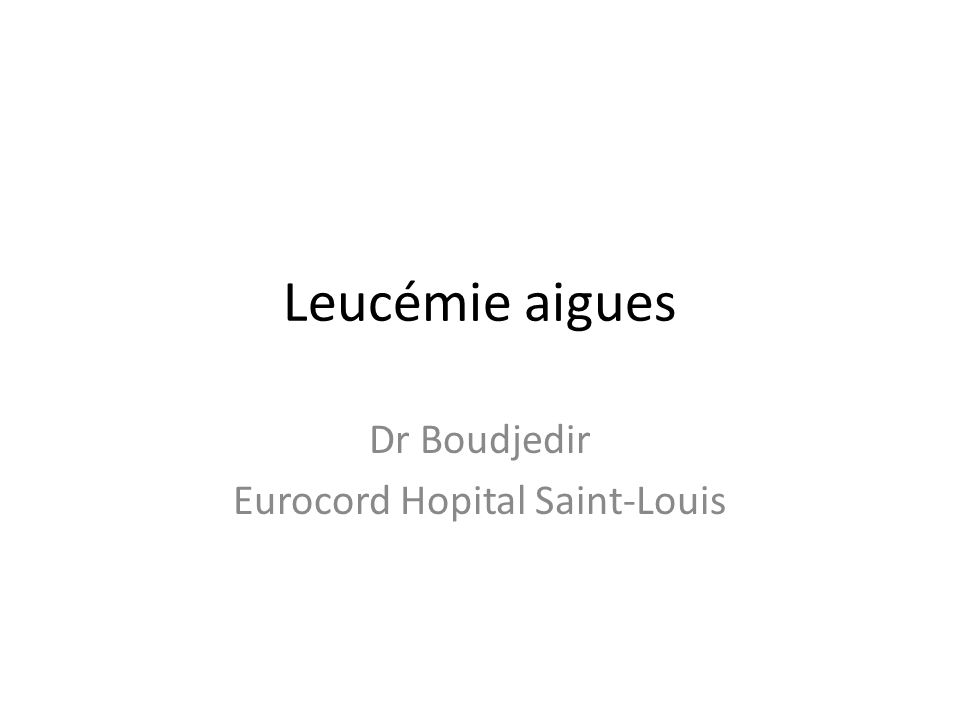 Dr Boudjedir Eurocord Hopital Saint-Louis