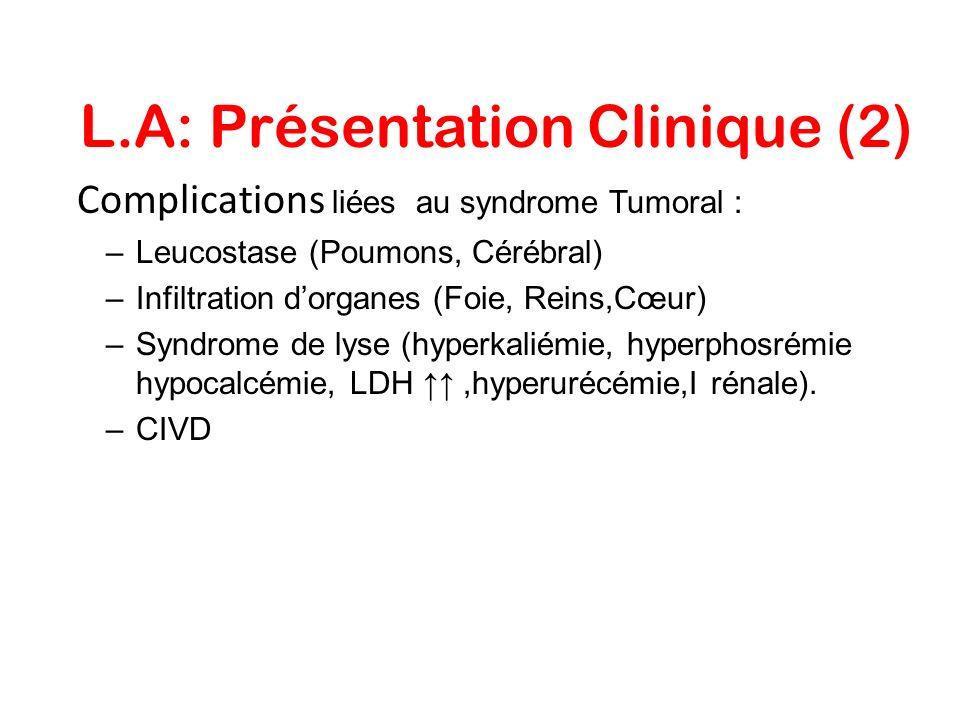 L.A: Présentation Clinique (2)