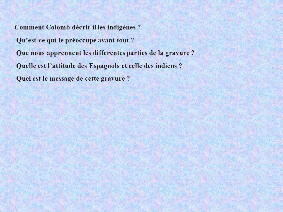 Comment Colomb décrit-il les indigènes