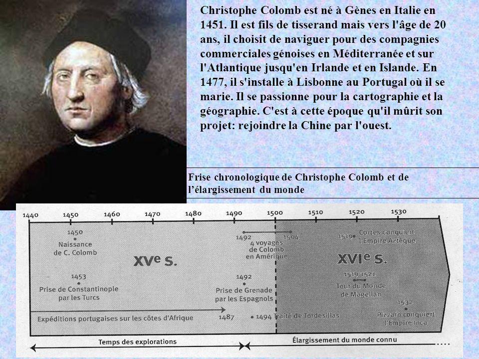 Christophe Colomb est né à Gènes en Italie en 1451