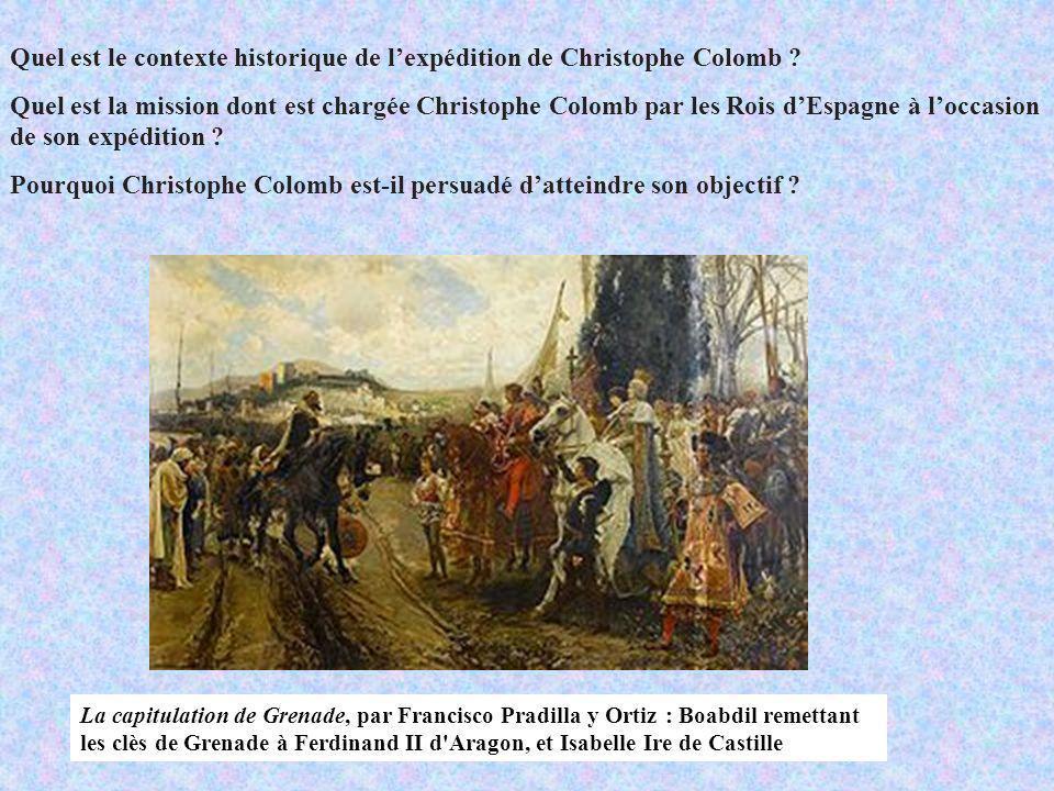 Quel est le contexte historique de l'expédition de Christophe Colomb