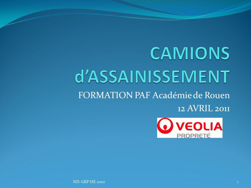 CAMIONS d'ASSAINISSEMENT