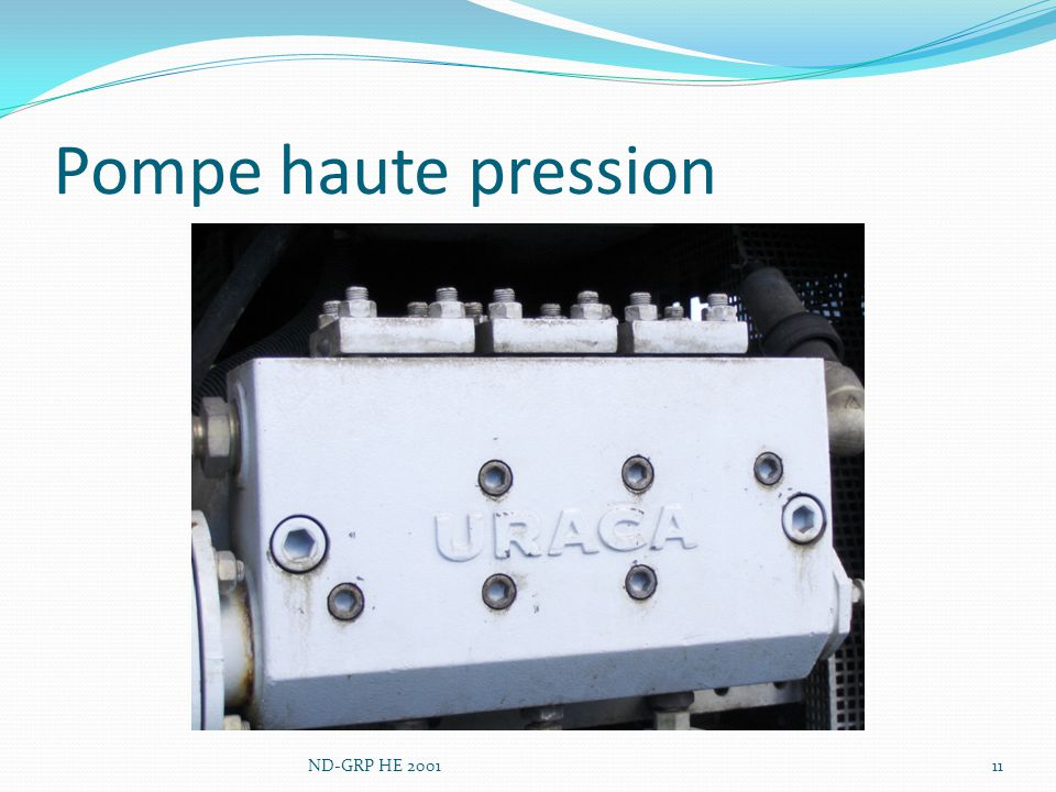 Pompe haute pression ND-GRP HE 2001
