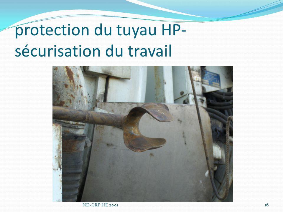 protection du tuyau HP-sécurisation du travail