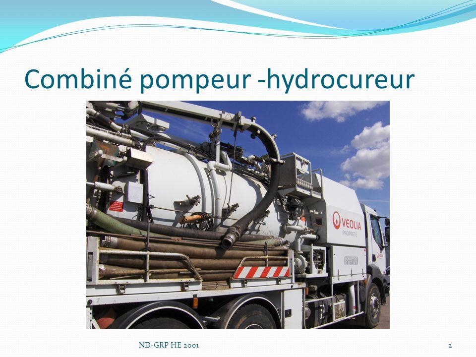 Combiné pompeur -hydrocureur