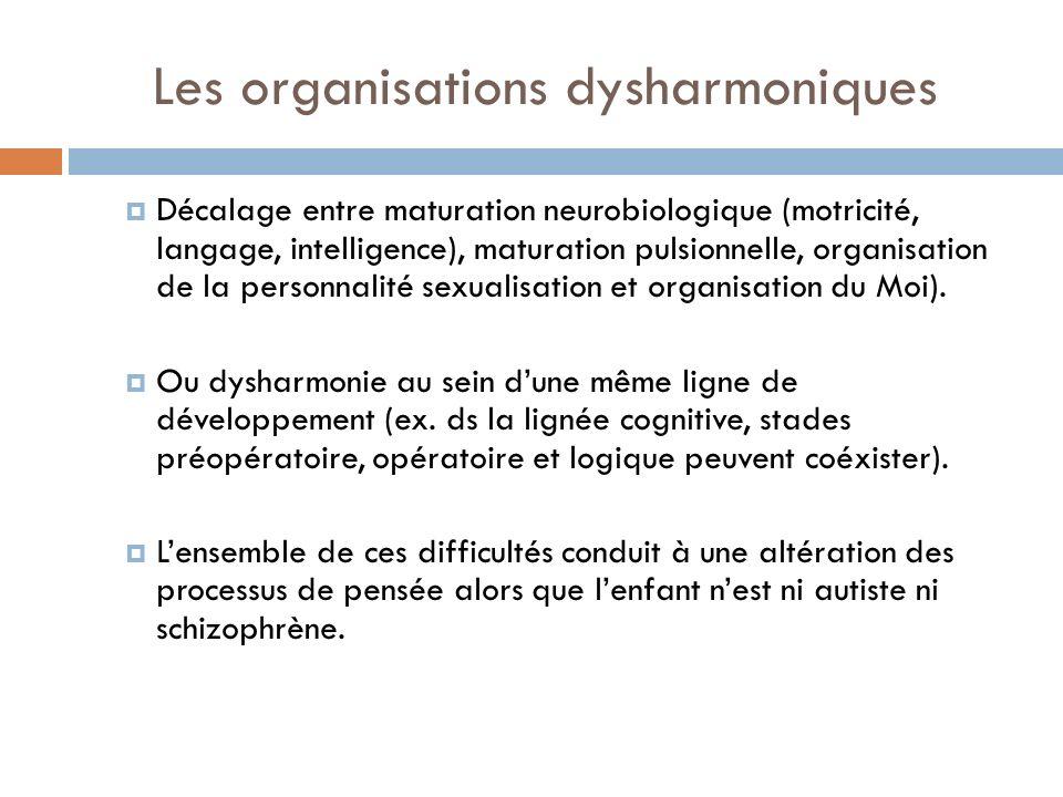 Les organisations dysharmoniques